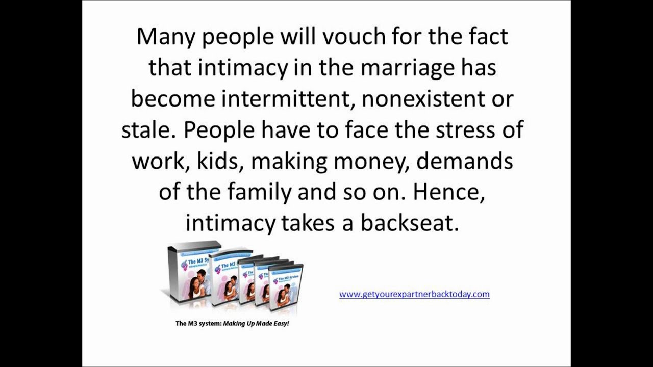 Intimacy marriage problems