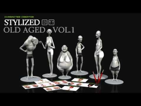 Character Creator – Older Stylized 3D Animated Characters