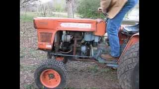 Kubota L175 Tractor Cold Start And Working