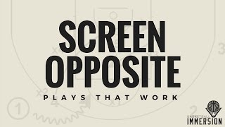 Basketball Set Play: Screen Opposite Triangle Offense Post Action