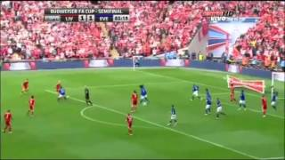 Liverpool v Everton FA Cup Semi Final 2012 Luis Suarez Andy Carroll