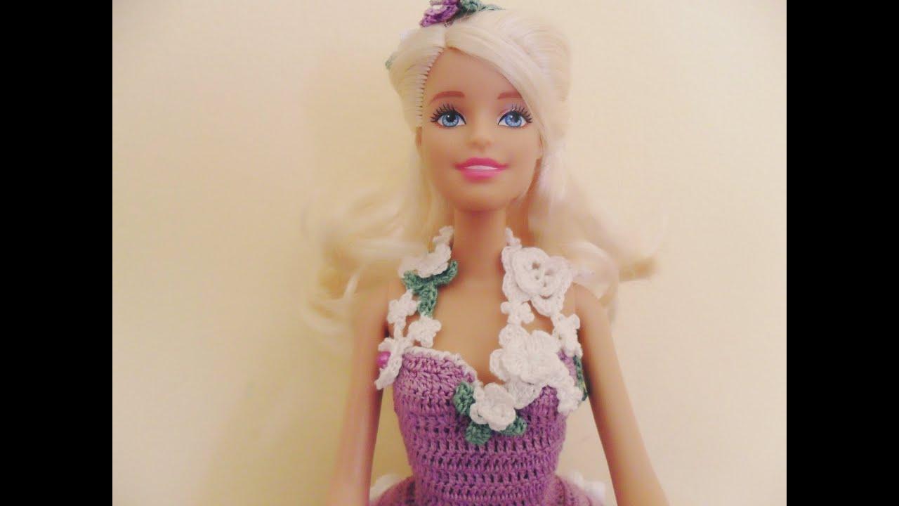 """Famoso Lavori artistici all'uncinetto """"Abito Barbie 5"""" - YouTube SR28"""
