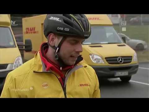 TV Doku: Pakete per Fahrrad ausgeliefert - DHL Deutsche Post