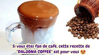 Le fameux Dalgona coffee ☕que l'on voit partout dans les réseaux sociaux
