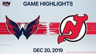 NHL Highlights   Devils vs Capitals - Dec. 20, 2019