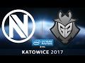 CS:GO - EnVyUs vs. G2 [Dust2] Map 1 - IEM Katowice 2017  - EU Qualifier - LB Round 3