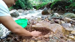Đi tìm kim cương dưới suối