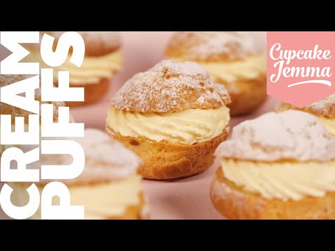 All About Choux! Cream Puff Recipe | Choux Pastry made easy! | Cupcake Jemma Channel
