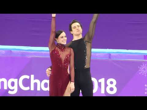 2018-02-20 Ice dance podium ceremony