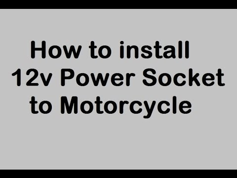 how to install 12v power outlet to motorcycle cigarette lighter rh youtube com
