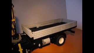Lego MB Actros tipper truck - dumping, switching mechanism