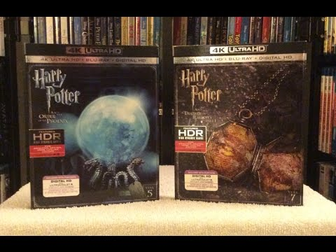 Harry Potter 4K BLU RAY UNBOXING and Review - Years 5 & 7