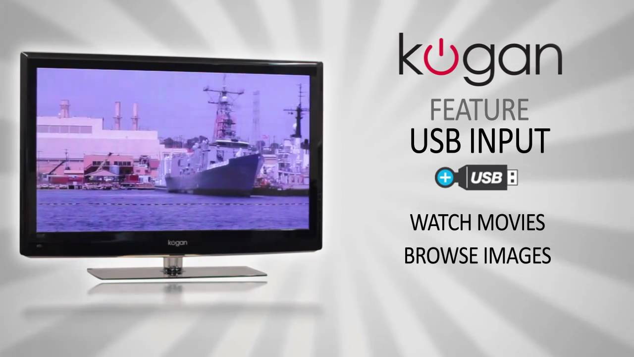 how to connect usb to kogan tv