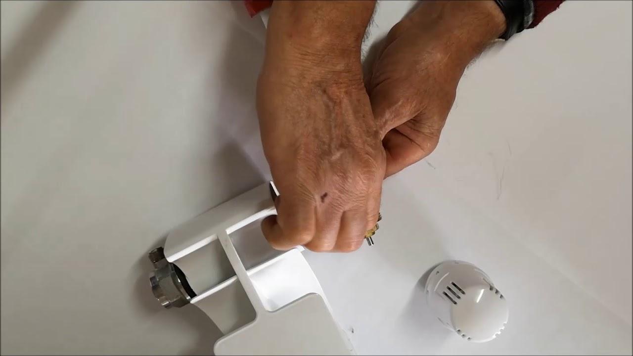 Smontare Termosifone Dal Muro come montare testa termostatica termosifone radiatore calorifero valvola  montaggio