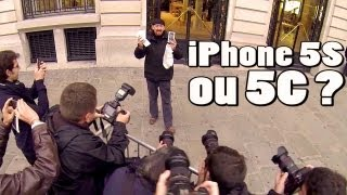 iPhone 5S vs 5C à l'Apple Store Opéra : des fans et des russes !