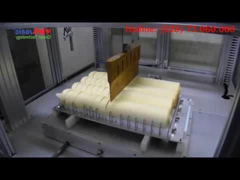 Vietsonic – Máy cắt siêu âm, ứng dụng cắt bánh bông lan cuộn