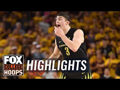 Arizona State vs Oregon   Highlights   FOX COLLEGE HOOPS