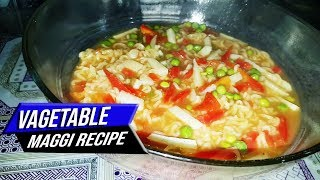 How to Cook Maggi Noodles with Vegetables Recipe in Hindi