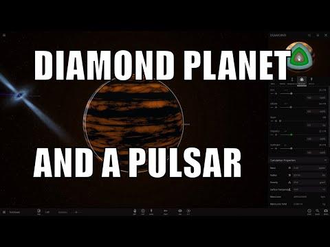 DIAMOND PLANET, PULSAR AND ITS MYSTERY - Universe Sandbox 2