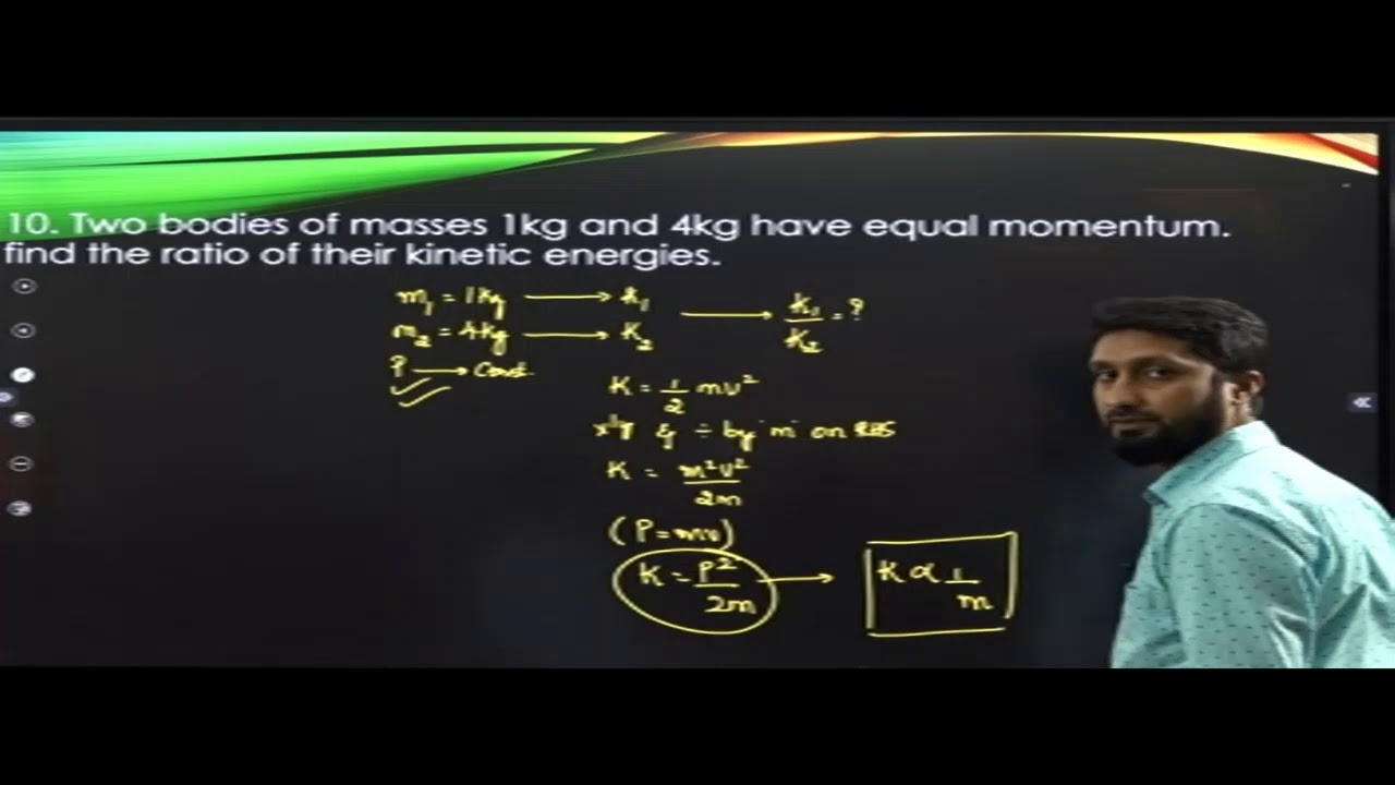 I PUC | PHYSICS | WORK ENERGY AND POWER  - 06
