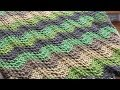 How to Crochet A Forest Afghan: Moss Stitch Wave