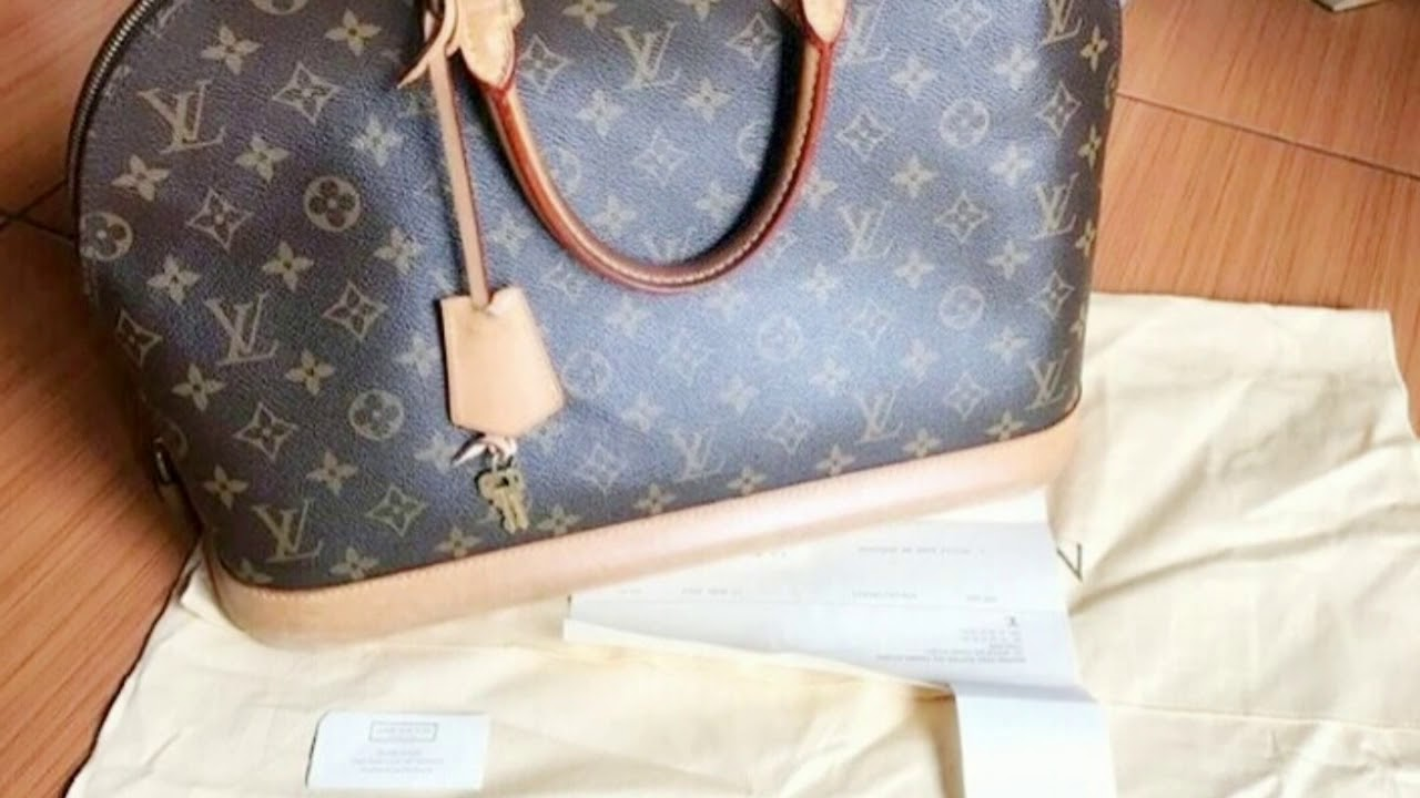 Jual Tas Louis Vuitton LV Bag Alma Original Second - YouTube 86971cffad