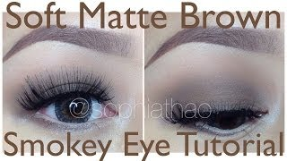 Soft Matte Brown Smokey Eyes Turorial