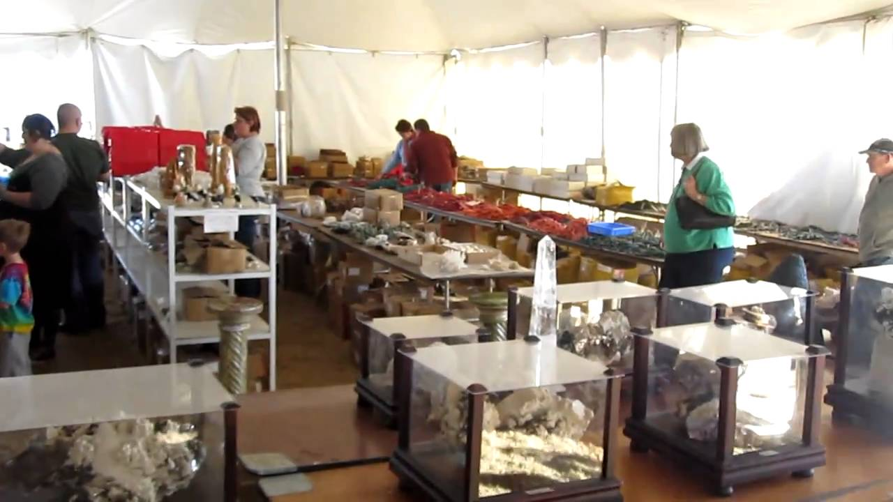 Walking Tour Of Tucson Arizona Gem Mineral & Fossil Show