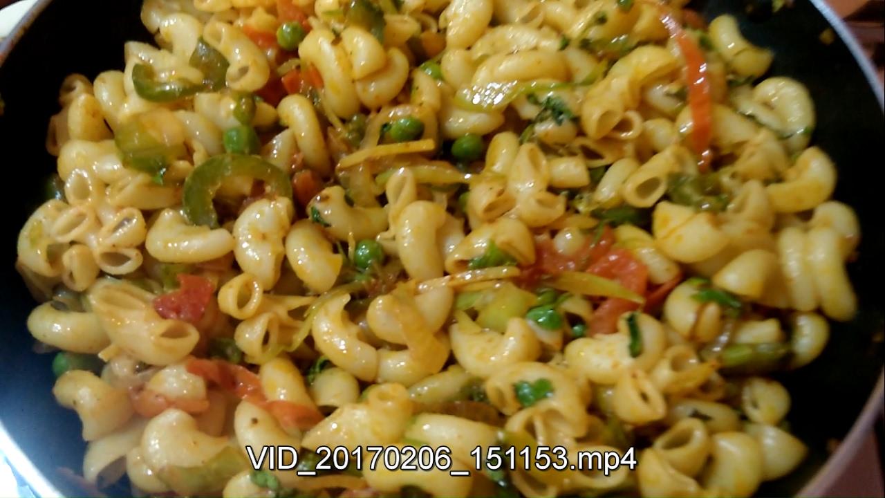 Veg Macaroni Indian Style Recipes - Indian Style Masala