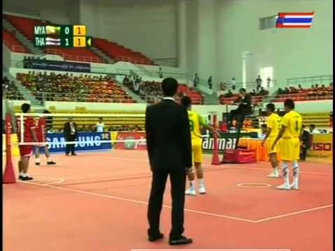 เซปัก ตะกร้อ ชิงชนะเลิศ ซีเกม 27 ไทย พม่า ทีม A