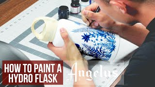 How to Paint a Stainless Steel Hydro Flask   Angelus Paint
