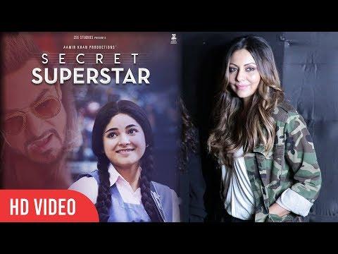 Shahrukh Khan's Wife Gauri Khan At Aamir Khan's Secret Superstar Special Screening