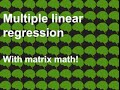Day 4 Multiple linear regression with matrices