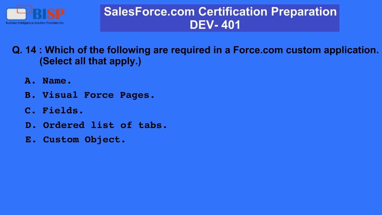 Salesforce Com Dev 401 Certification Preparation P3 Youtube