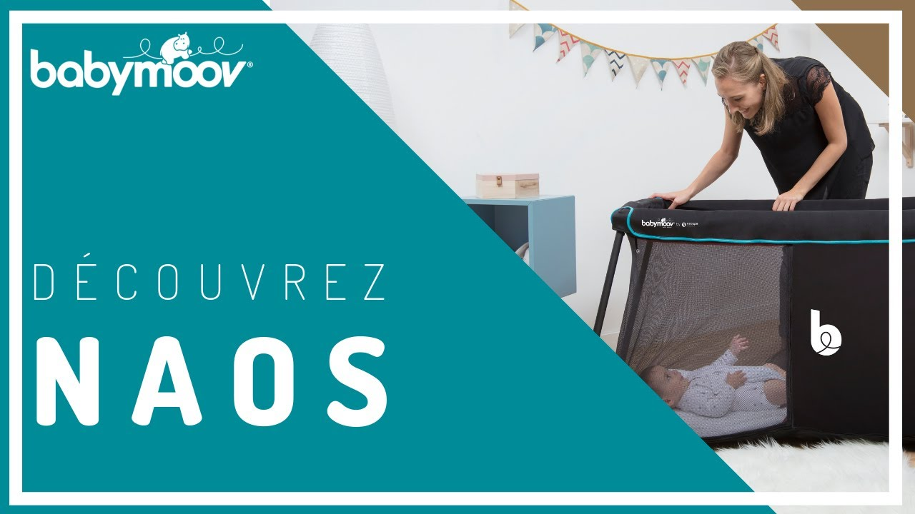 d couvrez naos le lit de voyage 2 en 1 ultra l ger et compact babymoov youtube. Black Bedroom Furniture Sets. Home Design Ideas