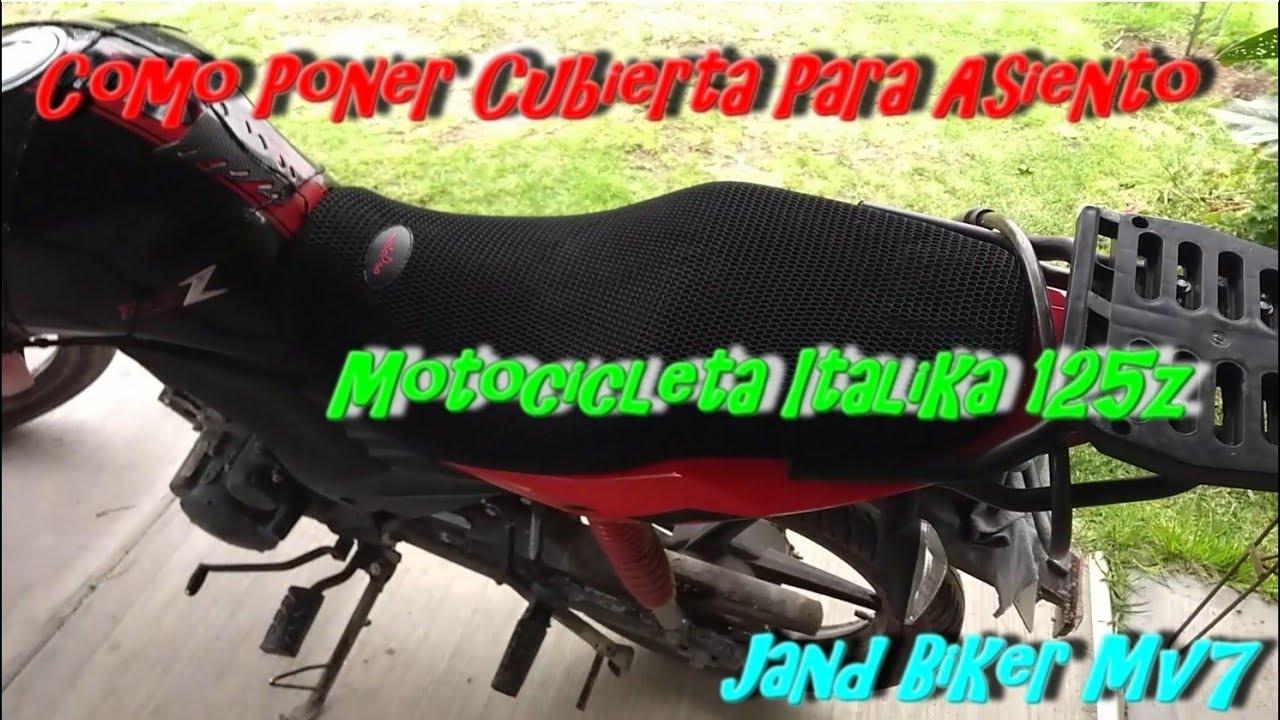 24cf3112f33 Como Poner Cubierta Para Asiento de Motocicleta Italika 125z - YouTube