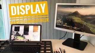 Display Darstellungsfehler am HP Pavilion 15-p223ng - Streifen im Display und verfälschte Farben