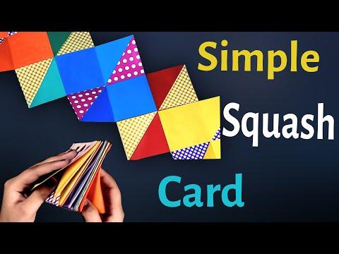 Squash Card tutorial - Handmade card Decoration ideas - Easy DIY scrapbook and explosion box decor