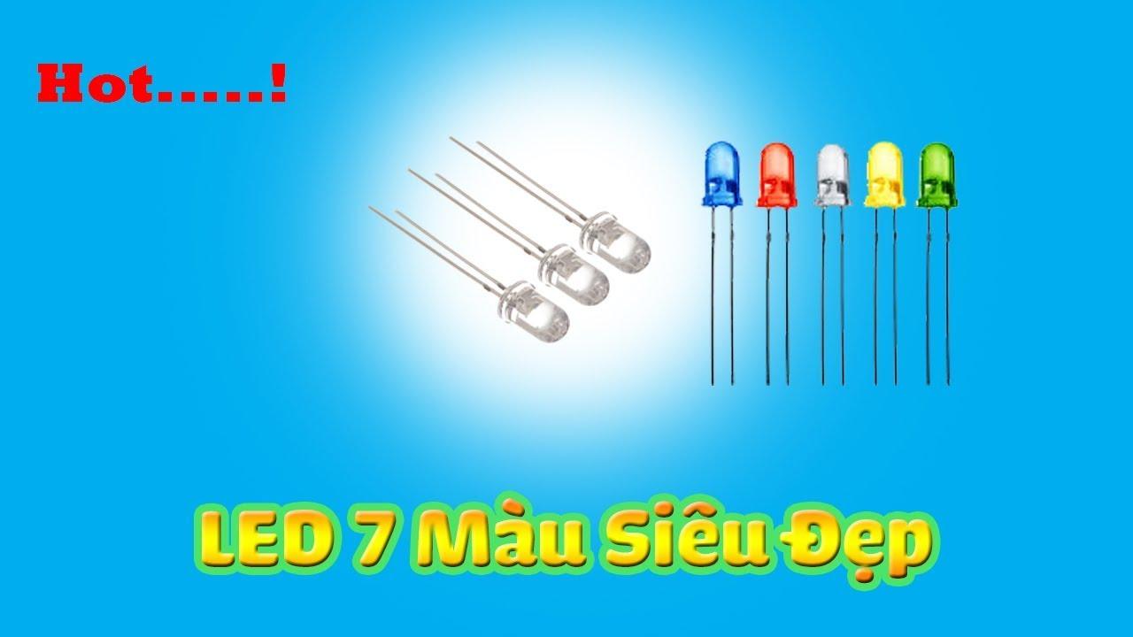 Cách làm đèn nháy đèn trung thu thay nến – DIY LED – LED 7 Màu – LED đa màu
