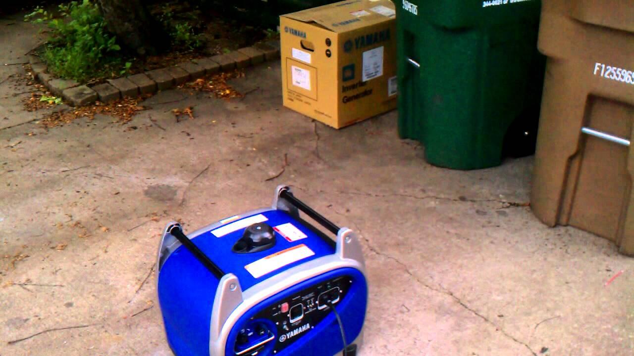 Yamaha Ef2400is Running 12 Amp 1500 Watt Heater Youtube