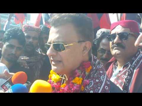 Thatta: Ayaz Latif Palijo media Briefing during Raly against Zulfiqarabad, Corruption & Extremism