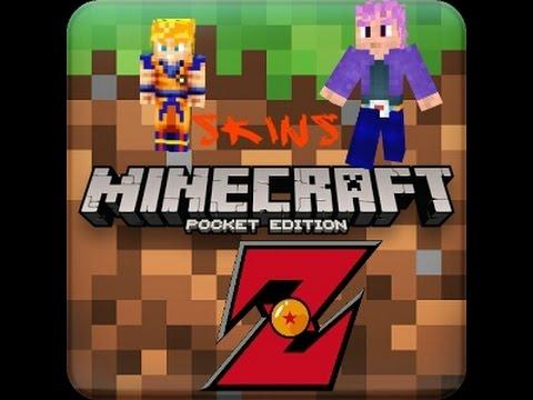 Skins De Dragón Ball Z Para Minecraft PE X YouTube - Skins para minecraft pocket edition de goku