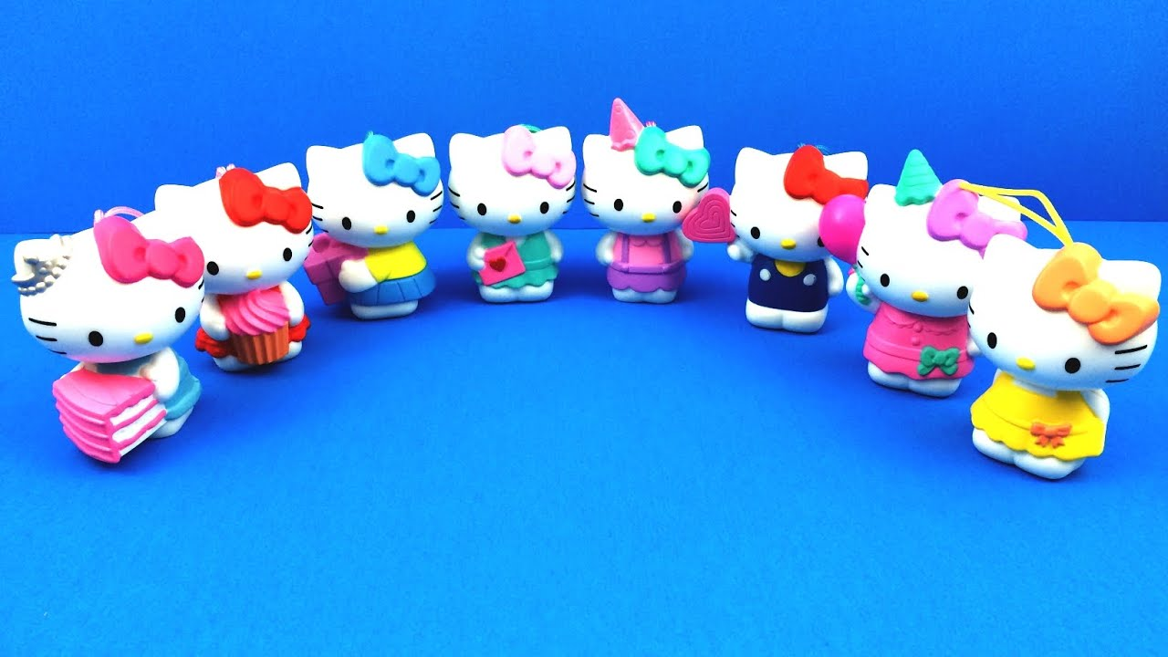 Hello Kitty Birthday Complete Set of 8 McDonalds 2014 Hello Kitty