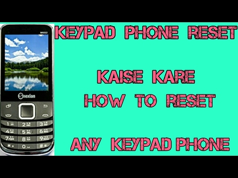 keypad Phone reset kaise kare How to reset any keypad phone