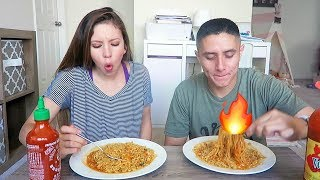 SPICY NOODLE CHALLENGE WITH HUBBY + Q&A