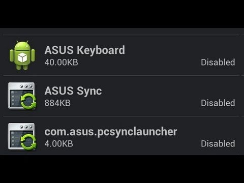 Disable Android Bloatware