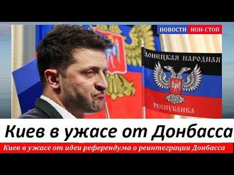 🔥 РЕФЕРЕНДУМ ПО ДОНБАССУ! КИЕВ В УЖАСЕ от идеи референдума о реинтеграции Донбасса