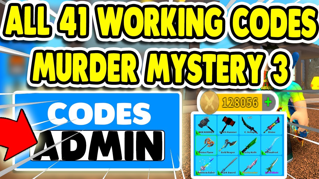 Roblox Murder Mystery 3 All 41 Codes 2020 Youtube
