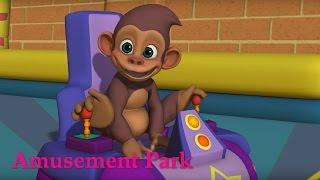 Английский язык для малышей - Мяу-Мяу -  Парк Аттракционов  (Amusement Park) - учим английские слова