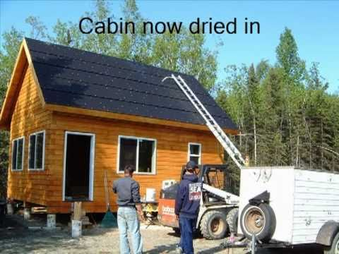 16 x 24 vacation log cabin youtube for Simple cabin plans 24 by 24